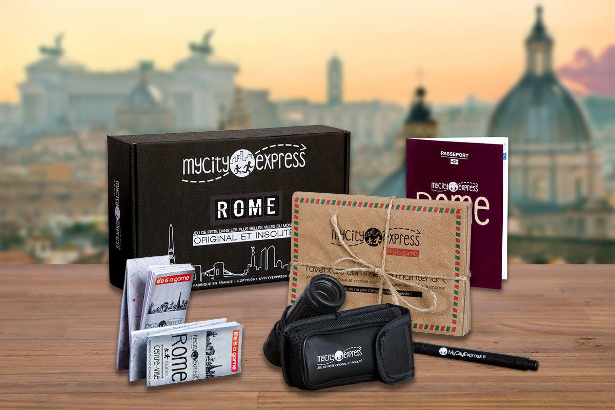 Box insolite à Rome, jeu de piste touristique